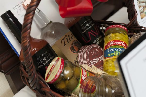 table for 10 bloody mary gift basket