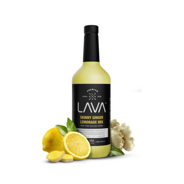 lava premium skinny ginger lemonade mix for vodka lemonade cocktail