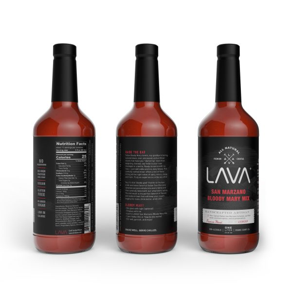 LAVA San Marzano Premium Bloody Mary Mix Recipe Low Carb Vegan Gluten Free