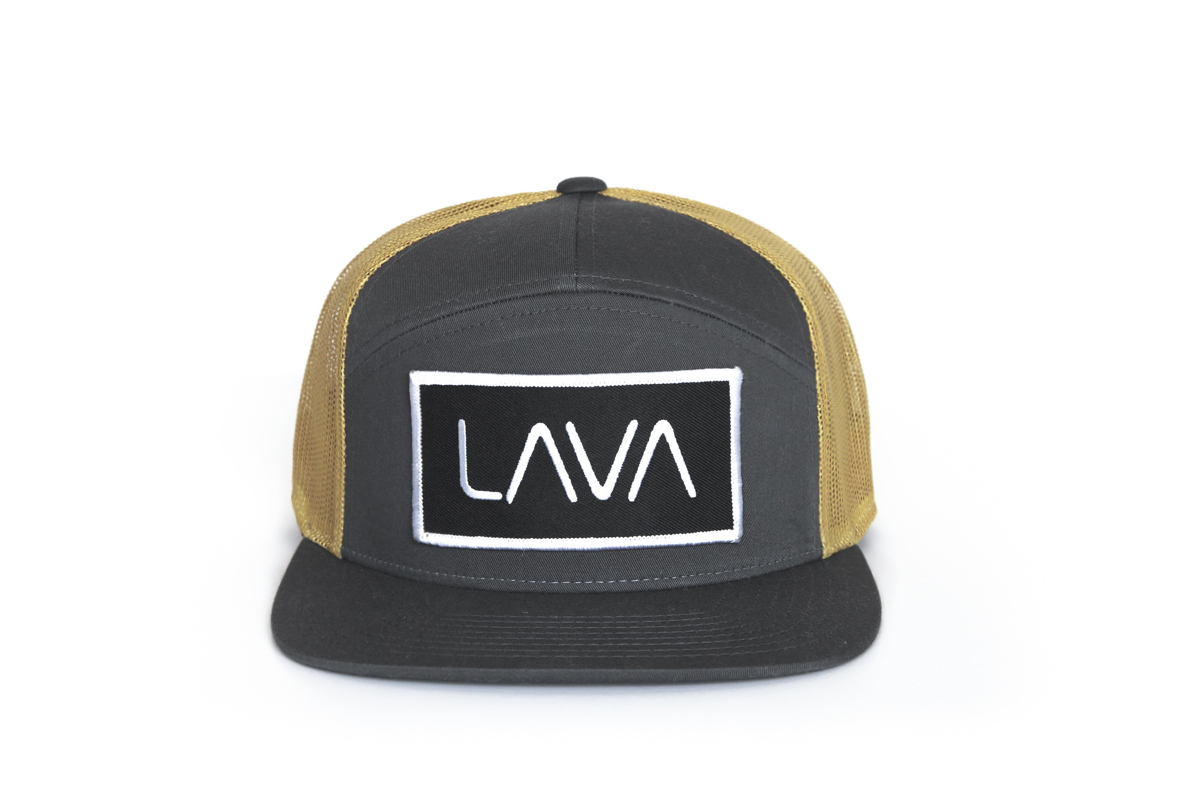 0841bc9efe5a5 LAVA Charcoal Gold Trucker Hat - LAVA Craft Cocktail Mixers