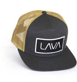 lava charcoal old gold trucker snapback cap hat golf leisure apparel