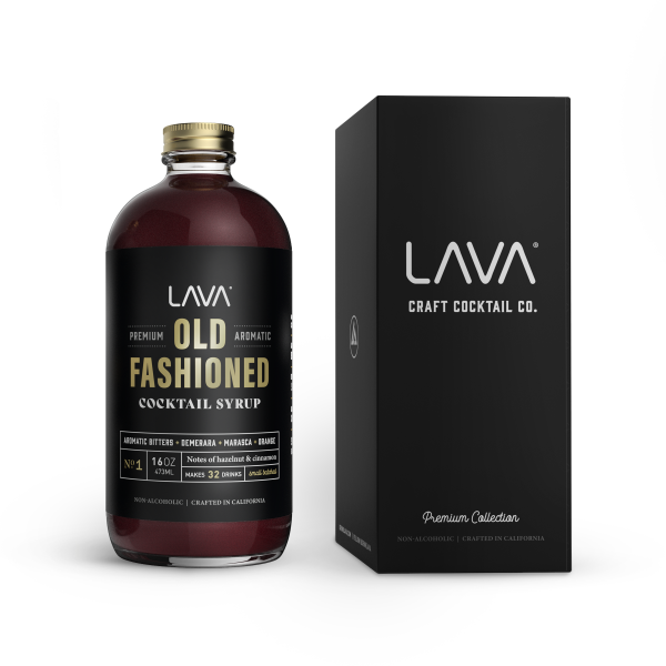 LAVA Our Best Old Fashioned Recipe Mix Premium Aromatic Old Fashioned Syrup