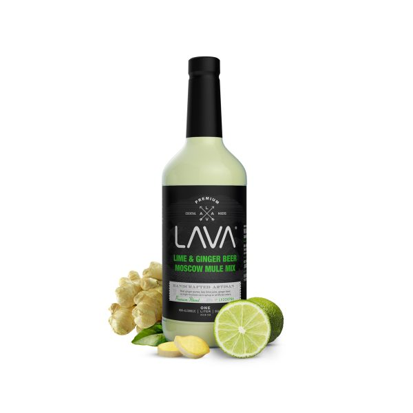 LAVA Spicy Moscow Mule Recipe Mix Key Lime Ginger Beer Craft Cocktail Mixer