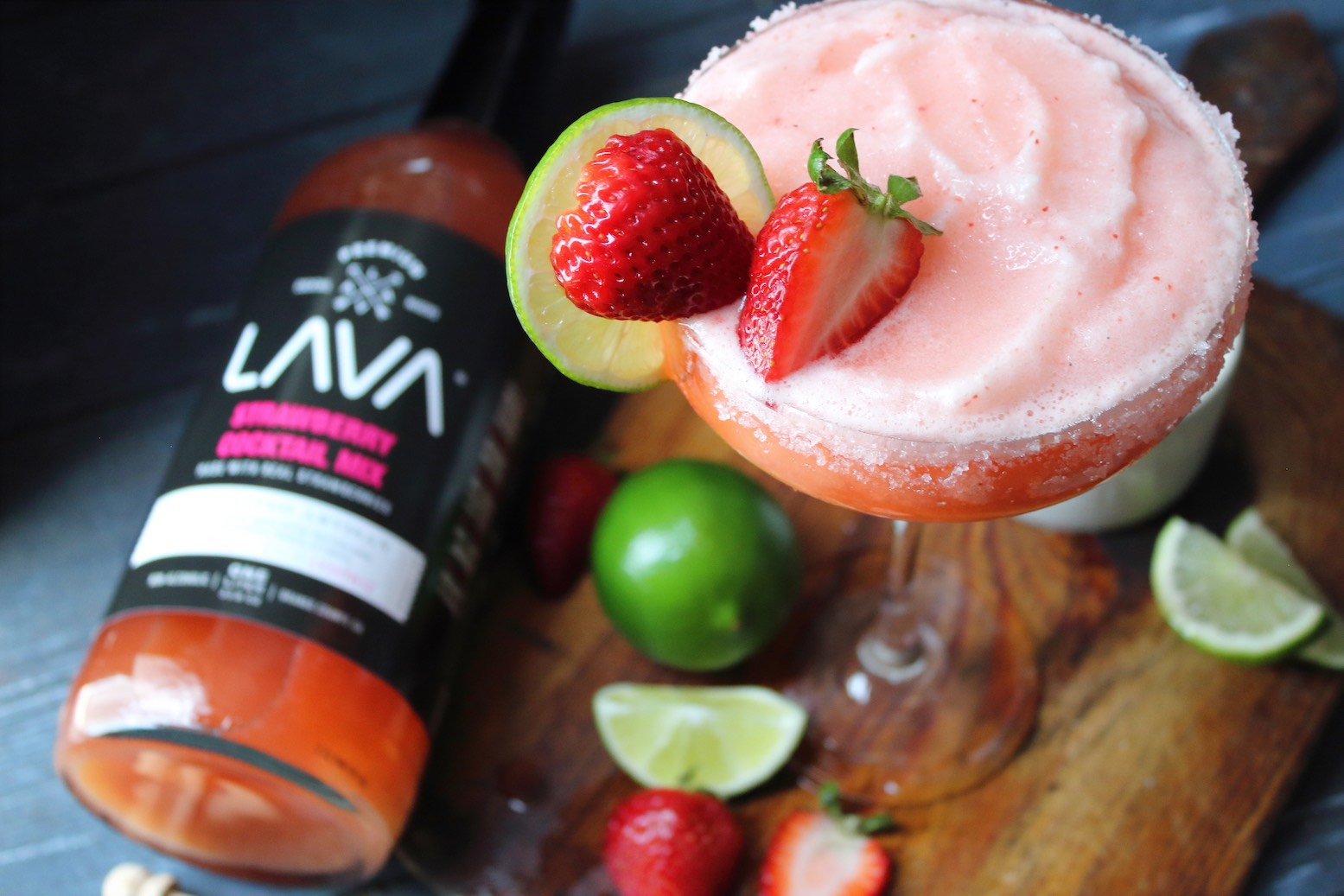 Quick And Easy Strawberry Daiquiri Recipe Rum Or Vodka Daiquiri Lava Craft Cocktail Mixers